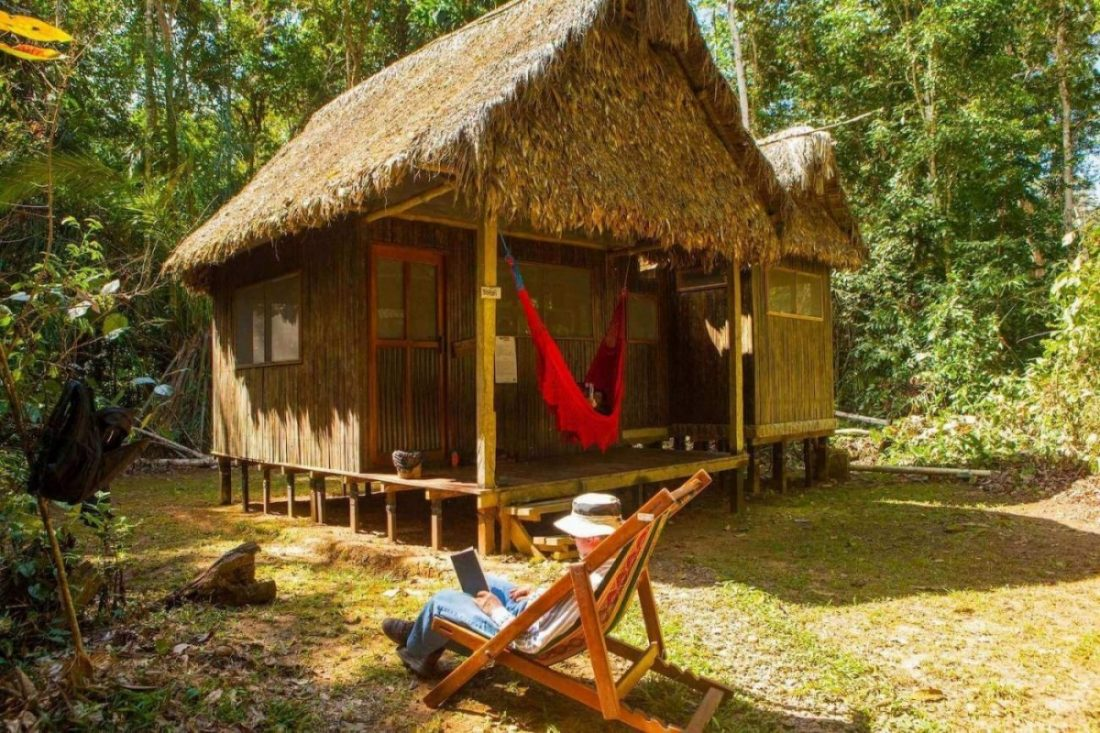 Relaxing in Madidi, Chalalan ecolodge