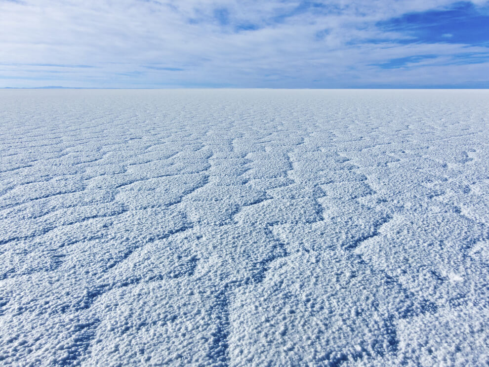 Salty white, Uyuni salt falts