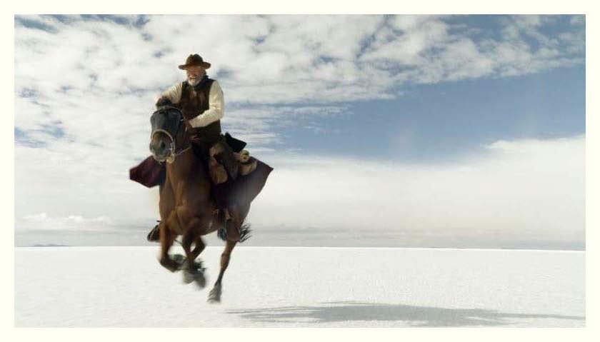 Sam Sheppard as Butch Cassidy in salar de Uyuni, Bolivia