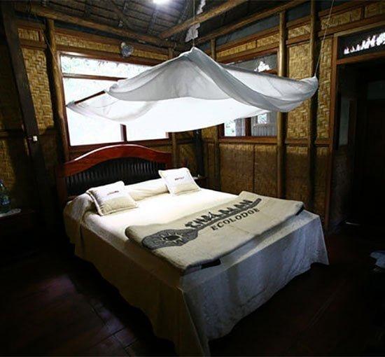 Cabin interior, Chalalan ecolodge