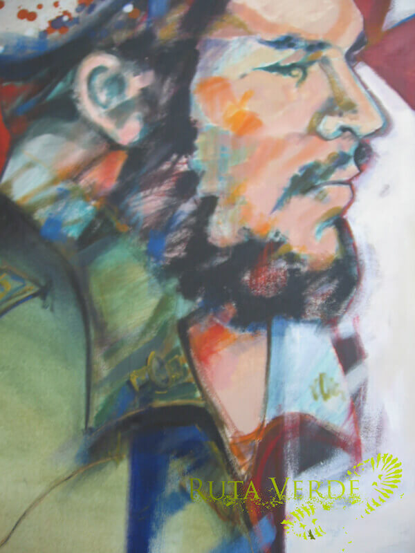 Painting, museum in Vallegrande - Che Guevara tour