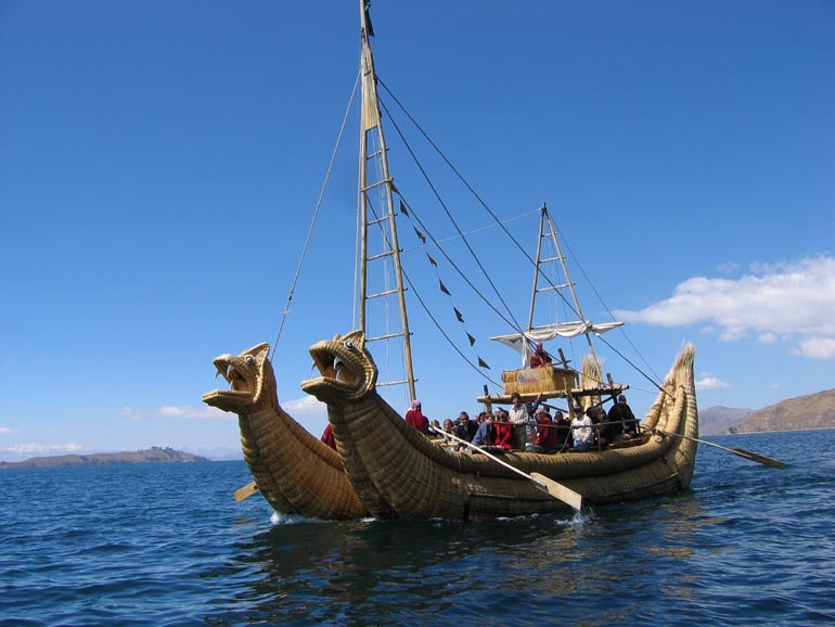 Vessel Titicaca lake