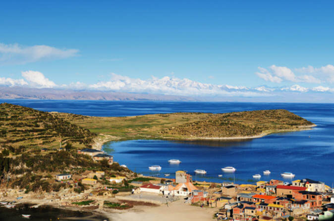 Sun island, Lake Titicaca catamaran cruise from Puno