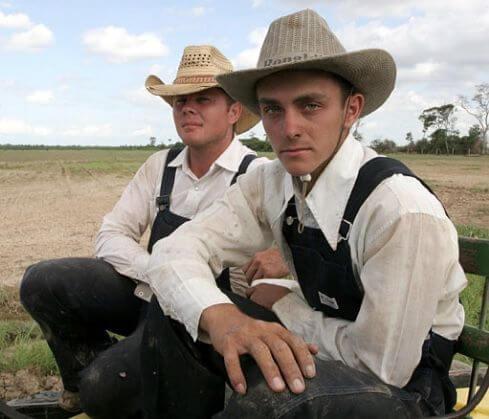 Mennonite men in Bolivia