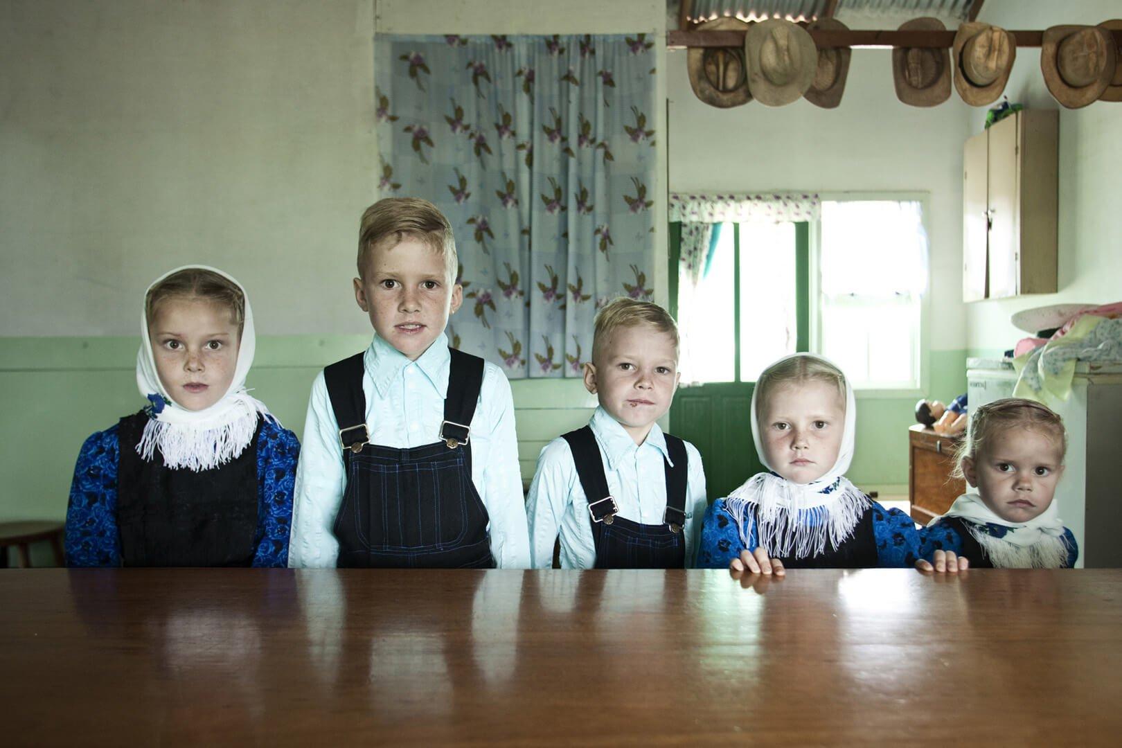 Mennonite children by Jordy Ruiz Cirera