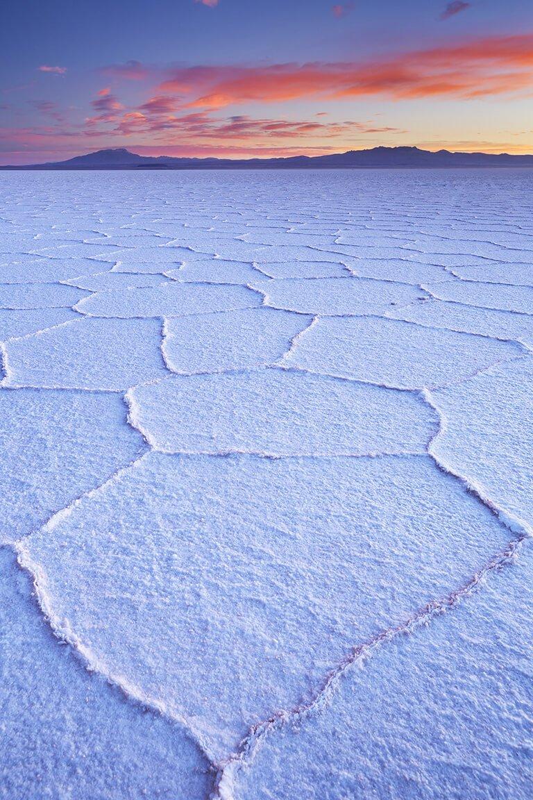 Salt flats Bolivia dry season