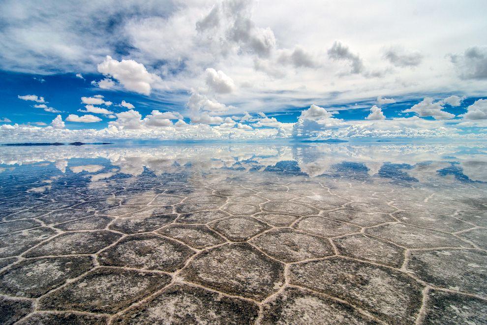 salt flats reflection