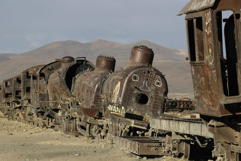 Train graveyard, Uyuni