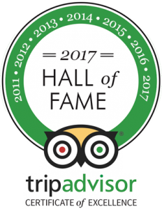 Tripadvisor Hall of fame 2017